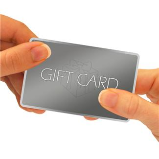 Give the recipient of said gift card your original receipt, so they can verify the card's purchase in case it is lost or stolen.